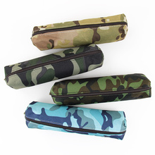 2 PCS Kawaii Lovely Camouflage Pencil Pouch Simple Pencil Cases Canvas Pencil Bag(China)