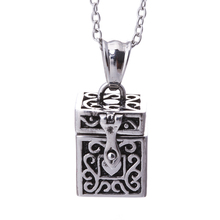 Vintage Style Tibetan Silver Personalized Lovely Heart Prayer Box Pendant Necklace,Open Secret Compartment Locket Necklace,Ashes