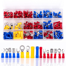 300Pcs New Assorted Insulated Electrical Wire Crimp Terminals Connector Butt Set with Box