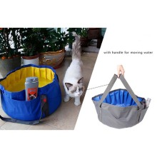 Small Pet Folding Bathtub Oxford + PVC Products Portable Outdoor Dog Cat Bath Tub Pocket Pet Swimming Pool Durable Waterproof(China)