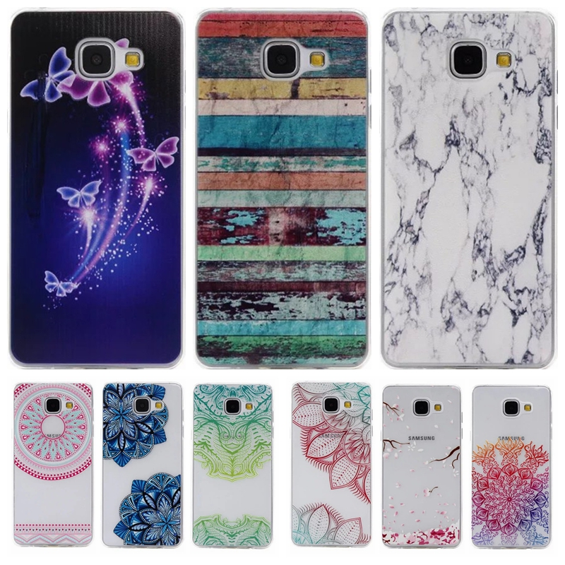 Colorful TPU Case sFor Coque Samsung galaxy A5 2016 A510F A5100 Floral Clear Soft Gel Transparent Case Cover For Galaxy A510