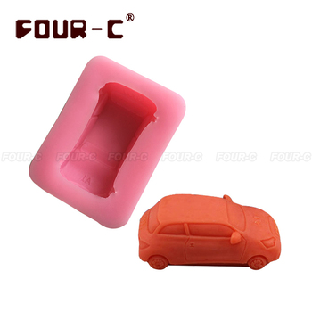 Free shipping car silicone cake mold soap mold 3d silicone cake mold fondant cake tools DIY silicone mold cute car soap mold