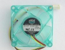 Cooler Master 7025 7CM 0.22A A7025-33RB-3AN-F2 3 pin mute CPU fan clear blue AMD fan replacement blade