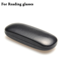 Hot Leather Glasses Case For men Waterproof Hard Frame Eyeglass Case Women Reading Glasses Box Black Spectacle Cases