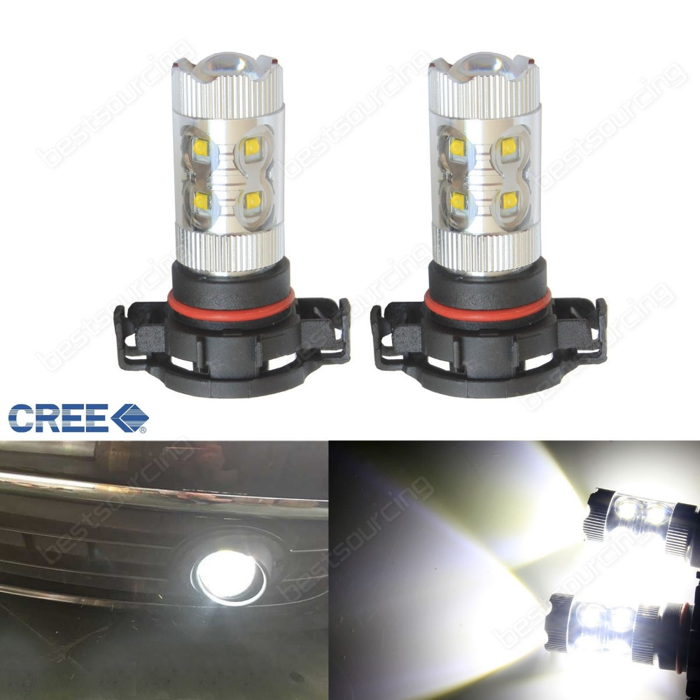 2pcs H16 PS19W 5202 9009  50W LED Sidelight Daytime Light Bulbs Xenon White (CA301)<br>