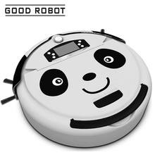 2017 New Panda Design Robot Vacuum Cleaner Automatic Rechargeable 2500mAh Battery Powerful Vacuum Cleaning Machine Sweeping Tool(China)