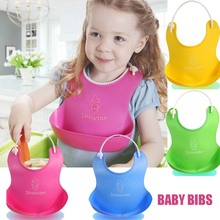 Hot Sale One Size Baby Silicone Bib Stereo Disposable Bib Kids Bibs Children Pick Rice Pocket Cute Boys And Girls Bids 4 Color