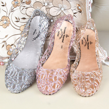 2017 Women Jelly Sandals Summer Fashion Transparent Clear Flat Sandals Beach Shoes Crystal Slippers Sandalias Mujer