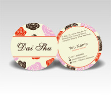 Fashion Designer Customized Round Business Cards Color Printing 350gsm Art paper Die Cut Name Card Professional Printing Service(China)