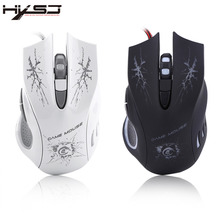 HXSJ A888A Colorful Game Gaming Mouse 5500DPI USB Wired Optical Lights Game Mice For Pro Gamer Computer Laptop Universal(China)