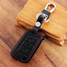 Car Leather Key Case Key Bag Key Cover For Volkswagen Golf 7 MK7 Tiguan Touran 2017 For Skoda Octavia A7 RS For Seat Leon Ibiza
