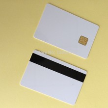500PCS/Lot Sle4428& Hi-Co Magentic Chip Smart blank Composite Card/EMV Card Contact ic card(China)