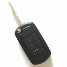 3 Button Replacement Shell Folding Flip Key Case For LAND ROVER Key Shell For Range Rover Sport LR3 Discovery (Logo On The Key)