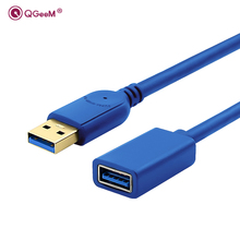 Super speed USB Extension Cable Cord USB 3.0 Male A to USB3.0 Female A Extension Data Sync Cable Adapter Connector 1M 2M 3M blue