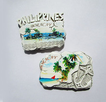 World Tourism commemorative refrigerator paste Philippines PHILIPPINES three-dimensional resin refrigerator stickers