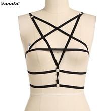 Buy Women Sexy Elastic Strap Free Black Bra Harness N3020 for $2.69 in AliExpress store