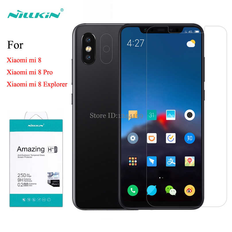 For Xiaomi Mi8 Explorer Tempered Glass Screen Protector Nillkin Amazing H+Pro H Anti-Explosion Glass film For Xiaomi Mi 8 Pro