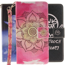 "For LG K8 Stand Covers,Luxury Leather Flip Cell Phone Case Cover For LG K8 4G LTE K350N 5.0"" K 8 With Card Slots+Hand Strap"