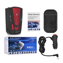 Car kit Vehicle V7 Radar detector 360 Degree Car Detector V7 Speed Voice Alert Warning 16 Band Speed Control Detector(China)