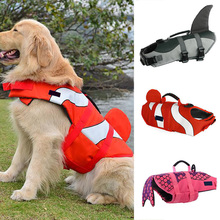 Dog Life Jacket Adjustable Swimming Preserver Clothes Pet Doggy Float Vest Jacket For Small/Large Pet Dogs Outdoor Protection