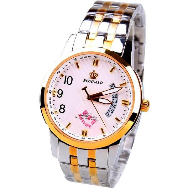 HK Crown Reginald Top Grade Business sapphire mirror 316 fine steel strip waterproof calendar mens Watch<br>