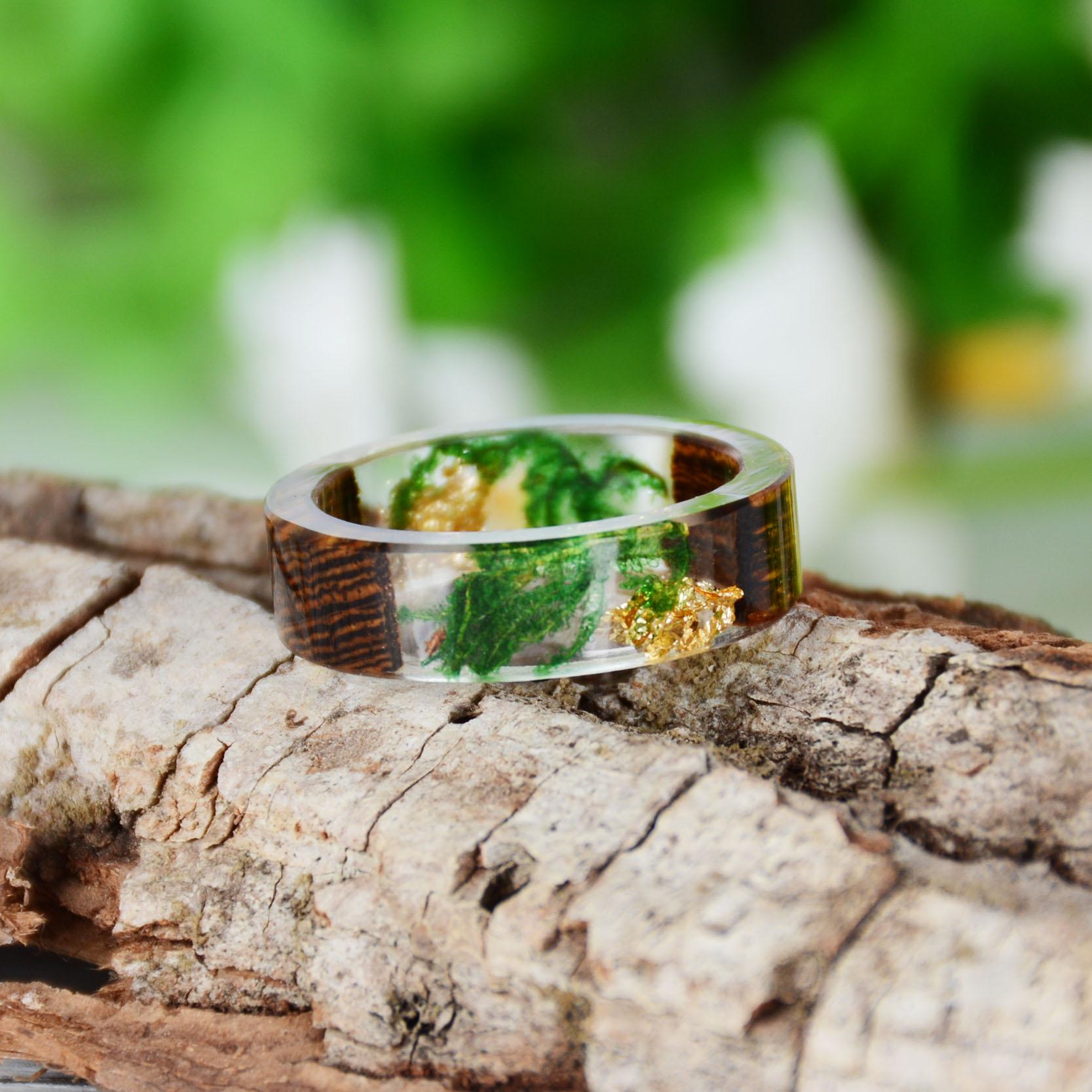 Handmade Wood Resin Ring Many Styles 42