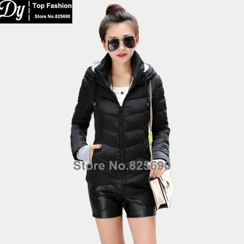 High Quality 2017 New Wadded Winter Jacket For Women Cotton Short Jacket Fashion Womens Padded Slim Plus Size Hooded CoatОдежда и ак�е��уары<br><br><br>Aliexpress