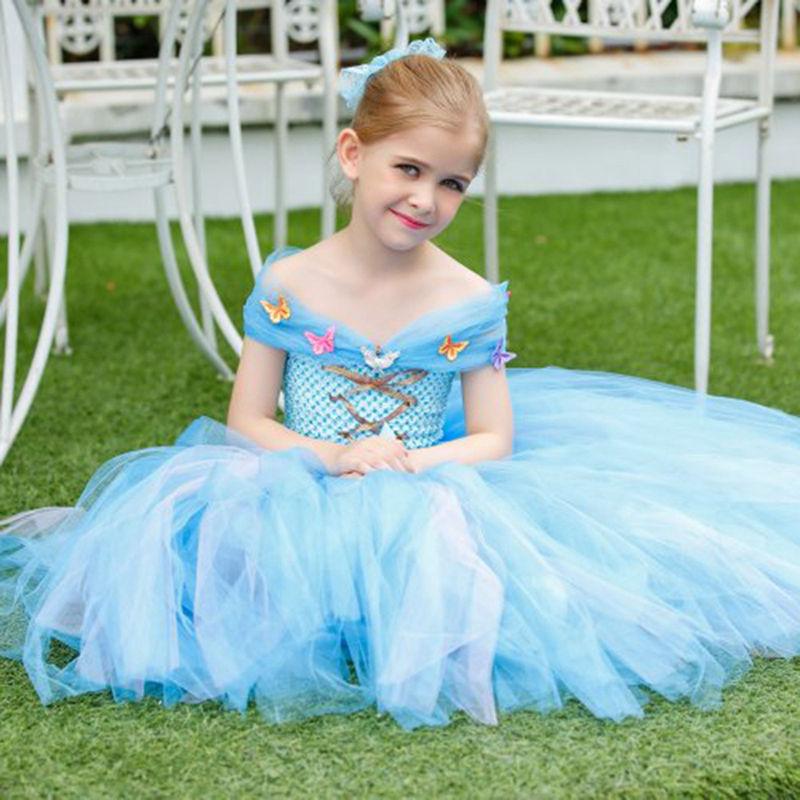 Princess Tutu Full Length Cinderella Dress Flower girls Tutu Dress Princess Birthday Party Dress Costume Fancy Dress TT035K<br>
