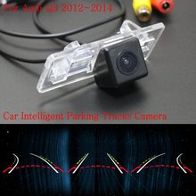 Car Intelligent Parking Tracks Camera FOR Audi Q3 2012~2014 / Back up Reverse Camera / Rear View Camera / HD CCD