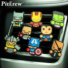 1 Piece Cartoon Air Freshener Car Styling The Avengers Star Wars Perfume Marvel Style for Car Air Condition Vent Superman(China)