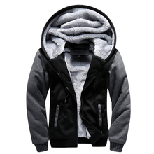 USA SIZE 2017 Men Winter Autumn Blank Pattern European Fashion Bomber Mens Vintage Thick Fleece Jacket Men Winter Jackets Coats(China)