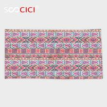 Custom Microfiber Ultra Soft Bath/hand Towel,Tribal Decor Retro Style Indian Aztec Spring Native American Pattern Pink Peach(China)