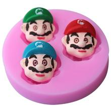 Free Shipping 3D Silicone Super Mario Shaped Baking Mold Fondant Cake Tool Chocolate Candy Cookies Pastry Soap Moulds D039