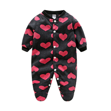 Brands Baby Clothes Costumes Fleece For Newborn Baby Clothes Boy Girl Romper Baby Clothing Overalls Jumpsuit Winter Clothes(China)