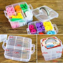 Portable Plastic 18 grids 3 layers Boutique Detachable Craft Beads Jewellery Makeup Make up Ornaments Storage Box Case Holder(China)