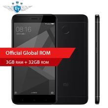 "Original Xiaomi Redmi 4X  4 X 3GB 32GB Smartphone 5.0"" HD Qualcomm Snapdragon 435 Octa Core 4100mAh 13MP Global MIUI 8.2 OTA"