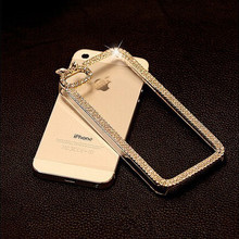 luxury bling diamond rhinestone Crystal protective case cover For iphone 6 6s plus 5 5s se 4 4s mobile phone case