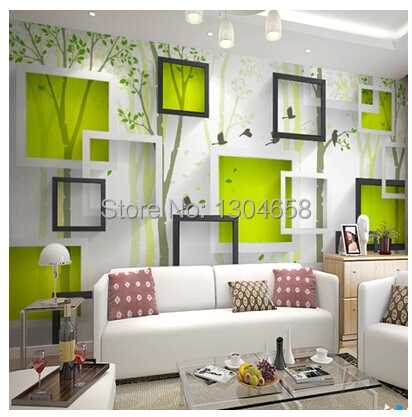 Free shipping 3D given large mural wallpaper / wallpaper / living room TV backdrop bird woods<br>