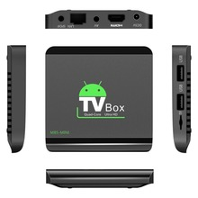 M8S MINI 4GB RAM 8GB ROM Home TV Box Top Quad-Core 32 Bits Wifi Wireless Media Player Set-Top Box For Android 5.1
