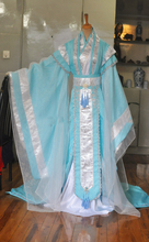 Sky Blue Tailed Male Costume Hanfu for Stage Performance or TV play Childe Costume Photography Hanfu for Cosplay Men's Hanfu(China)