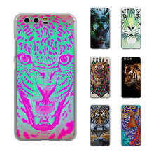 popular love animals tiger color tiger Style Thin transparent phone Cover Case for Huawei P10 P10lite P8 P9 lite Mate8 Mate9(China)