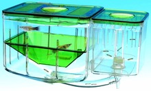 Hatch guppy baby fish separate box double set Aquarium small fish separation box fish breeding box(China)