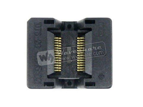 Parts SSOP28 TSSOP28 OTS-28-0.635-02 Enplas IC Test Burn-in Socket Programming Adapter 0.635mm Pitch 3.94mm Width<br>