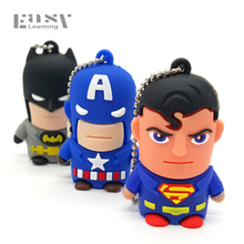 Easy Learning Hot Sale Cartoon Hero USB Flash Drives Usb 2.0 Memory Stick 4GB 8GB 16GB 32GB 64GB Pendrives Pen Drive Gift(China)