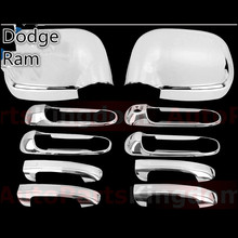 XYIVYG 2002 03 04 05 06 07 08 Chrome ABS Mirror Cover + Handle Cover for 02-08 For Dodge Ram 1500/2500/3500(China)