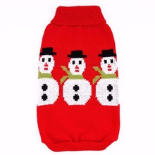 Christmas Snowman Pet Sweater Dog Clothes Warm Pet Puppy Jumper Knitted Coat for Small Dog Apparel Winter Clothing
