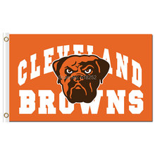 Cleveland Browns with logo Flag 3x5 FT 150X90CM NFL Banner 100D Polyester Custom flag grommets 6038, free shipping