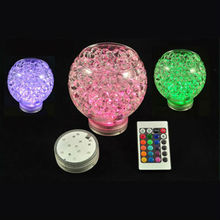2014 Wedding Souvenir 16pcs/lot Remote Controlled Rgb Multi Colors Submersible Lights for Wedding, Waterproof Led Vase Light