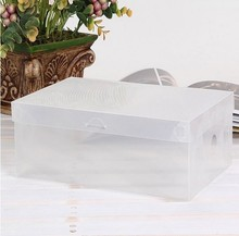 20pcs/lot PP plastic clear children size shoes box organizer,21*13*7.5cm,FREE SHIPPING
