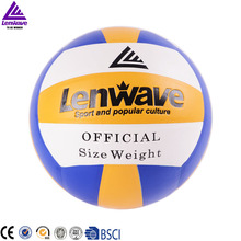 Free Shipping 2016 New Lenwave Brand Volleyball Official Size 5 Indoor Sports Training PVC Volleyball Balls